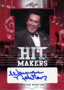 2016 Leaf Pop Century Hit Makers Autographs Red Wayne Newton