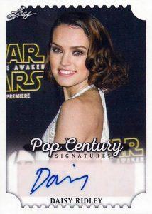 2016 Leaf Pop Century Signatures Daisy Ridley