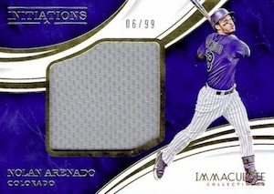 2016 Panini Immaculate Baseball Initiations Jumbo Relics