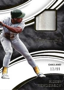 2016 Panini Immaculate Baseball Swatches Rickey Henderson