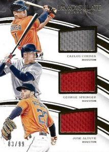 2016 Panini Immaculate Baseball Trio Players