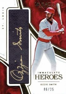 2016 Panini Immaculate Baseball heroes Ozzie Smith