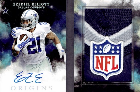 2016 Panini Origins Football Rookie Autograph Booklet Patch Shield Ezekiel Elliott