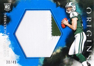 2016 Panini Origins Football Rookie Jumbo Jersey Relics Patch Blue