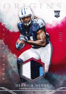 2016 Panini Origins Football Rookie Patch Relics Red Derrick Henry