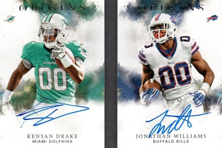 2016 Panini Origins Football Rushing Stars Signatures Booklet