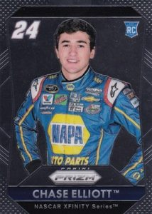 2016 Panini Prizm NASCAR Racing Base RC 24 Chase Elliott