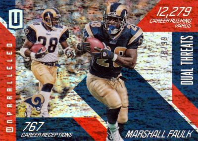 2016 Panini Unparalleled FB Dual Threats Marshall Faulk