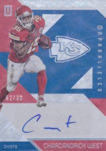 2016 Panini Unparalleled Football Base Autographs West