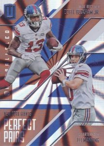 2016 Panini Unparalleled Football Perfect Pairs
