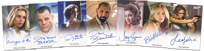 2016 Rittenhouse James Bond Archives Spectre Edition Autographs