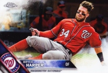 2016 Topps Chrome Baseball Base Bryce Harper