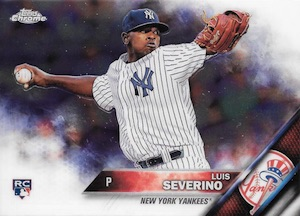 2016 Topps Chrome Baseball Base Luis Severino
