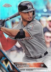 2016 Topps Chrome Baseball Base Refractor Giancarlo Stanton