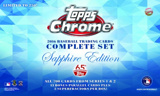 2016 Topps Chrome Baseball Complete Set Sapphire Edition 1