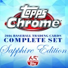 2016 Topps Chrome Baseball Complete Set Sapphire Edition