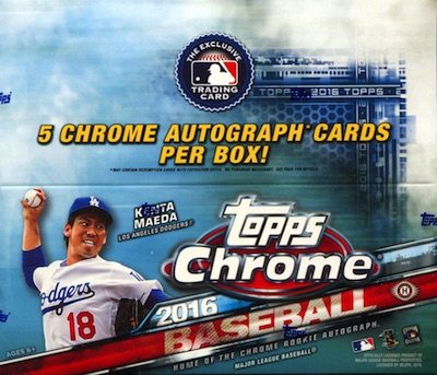 2016 Topps Chrome Baseball Jumbo Box