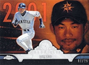 2016 Topps Chrome Baseball ROY Chronicles Orange Ichiro