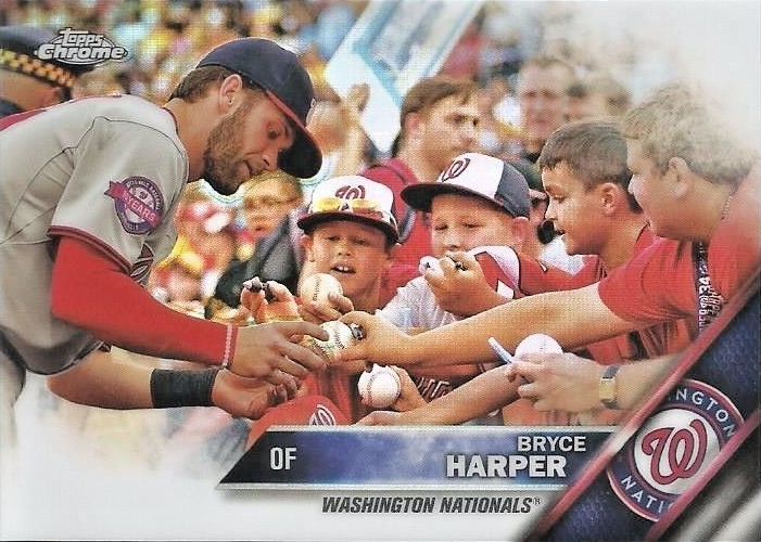 2016 Topps Chrome Baseball Variations Bryce Harper