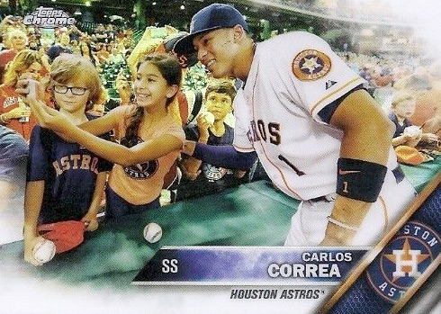 2016 Topps Chrome Baseball Variations Carlos Correa