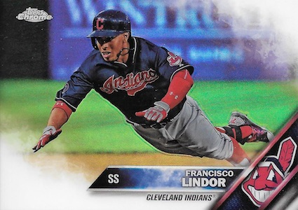 2016 Topps Chrome Baseball Variations Francisco Lindor
