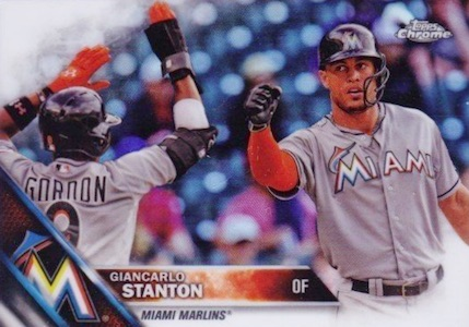 2016 Topps Chrome Baseball Variations Giancarlo Stanton