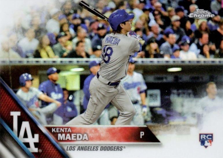 2016 Topps Chrome Baseball Variations Kenta Maeda