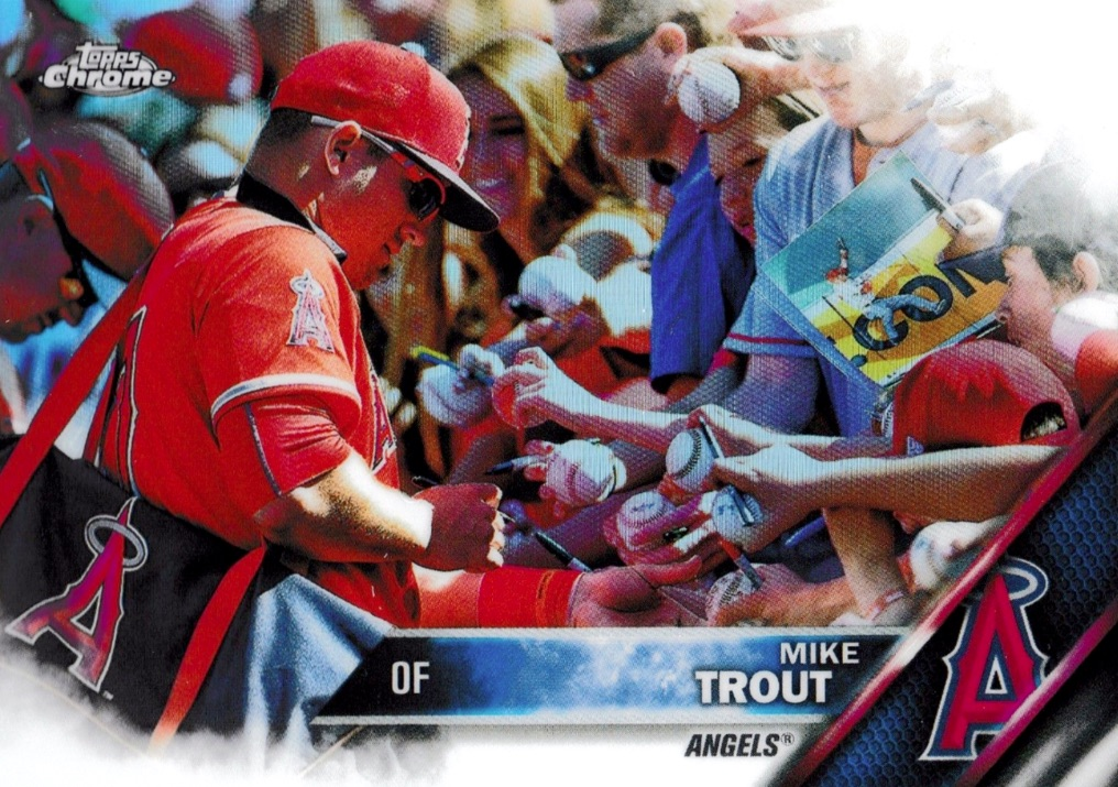 2016 Topps Chrome Baseball Variations Mike Trout