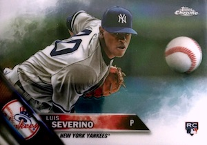 2016 Topps Chrome Baseball Variations Severino