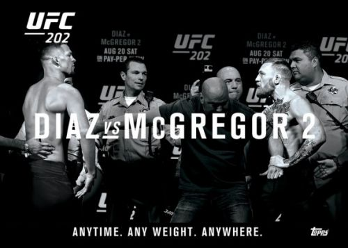 2016 Topps Crossover Set 3 UFC Knockout Diaz vs McGregor