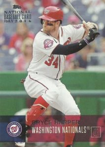 2016 Topps National Baseball Card Day Base Bryce Harper