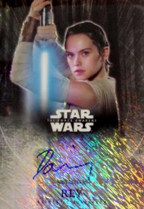2016 Topps Star Wars The Force Awakens Chrome Autograph Daisy Ridley Rey