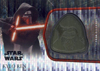 2016 Topps Star Wars The Force Awakens Chrome Medallion Relics Kylo Ren