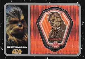 2016 Topps Star Wars The Force Awakens Chrome Patch Relics
