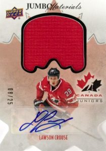2016 Upper Deck Team Canada Juniors Hockey Jumbo Materials Jersey Relics Autograph