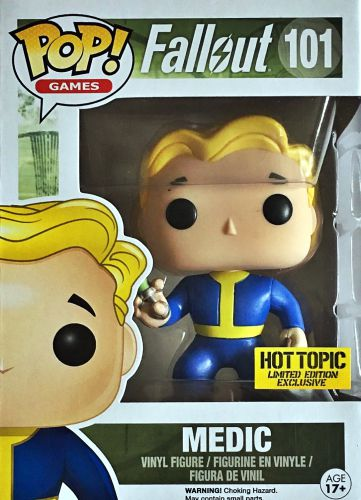 Funko Pop Fallout 101 Medic Hot Topic