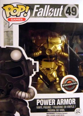 Funko Pop Fallout 49 Power Armor Gold GameStop