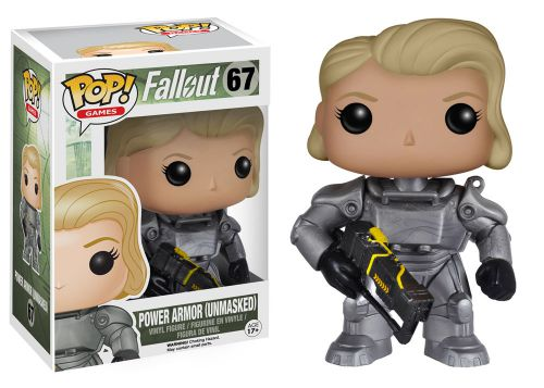 Funko Pop Fallout 67 Power Armor Female Unmasked GameStop