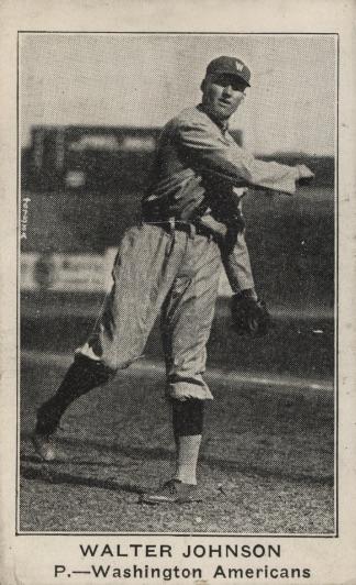 1922 E121 American Caramel Walter Johnson