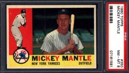 1960 Topps Mickey Mantle #350 PSA 8