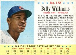 1963 Post Billy Williams #172