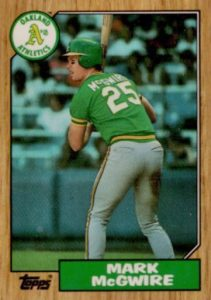 1987 Topps Tiffany Mark McGwire #366