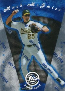 1997 Pinnacle Totally Certified Platinum Blue Mark McGwire #49