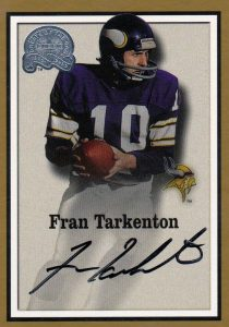 2000 Fleer Greats of the Game Fran Tarkenton Autograph