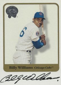 2001 Fleer Greats of the Game Billy Williams Autograph
