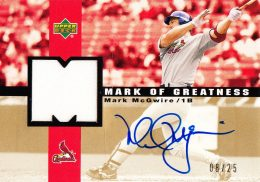 2003 Upper Deck Mark of Greatness Mark McGwire Autograph