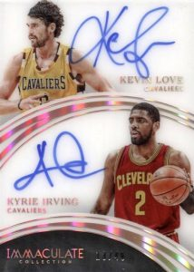 2015-16 Panini Immaculate Basketball Dual Autographs