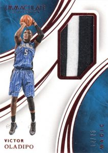 2015-16 Panini Immaculate Basketball Memorabilia Red