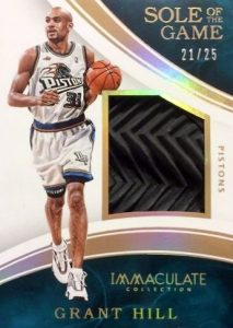 2015-16 Panini Immaculate Basketball Sole of the Game Relics Grant Hill