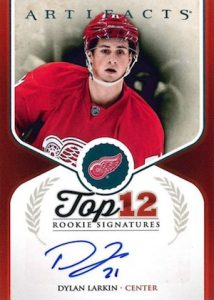 2016-17 Upper Deck Artifacts Hockey 2015-16 Update - Top 12 Rookie Signatures Larkin